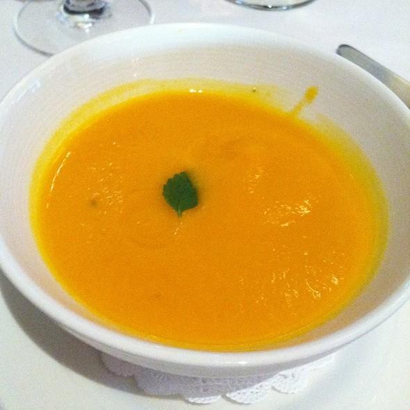 Chilled Carrot & Ginger Soup - French Garden, Sebastopol, CA