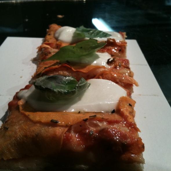 Yam ,Mozzarella Balls & Basil Pizza @ Tony Vespa