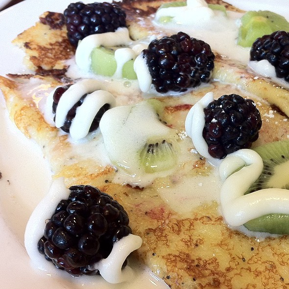 Lemon Poppyseed Crepes @ Brunch Cafe Fox River Grove