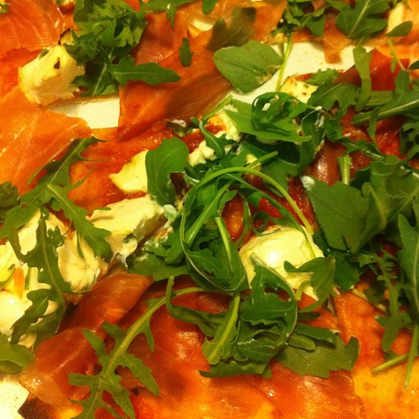 Pizza With Ham, Philadelphia And Roquette @ Ristorante Pizzeria La Salera
