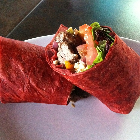 Steak Wrap With Grilled Bell Peppers And Onoins! @ Legends Annex