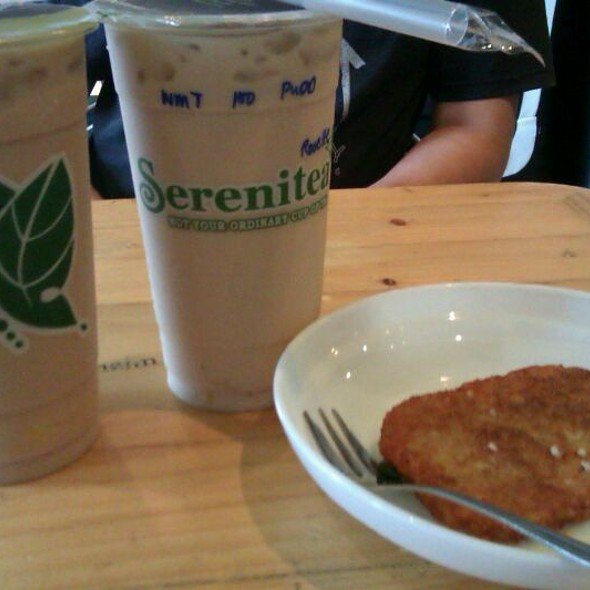 Okinawa And Wintermelon Milk Teas With Hashbrown @ Serenitea