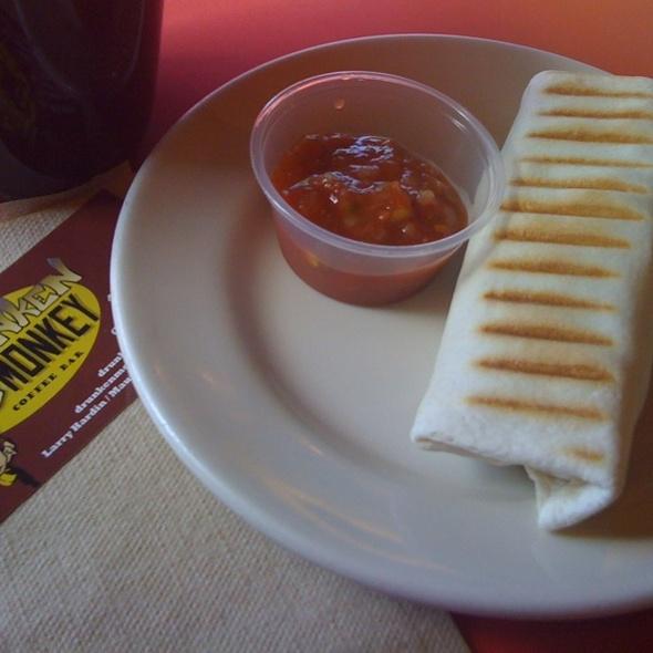 Breakfast Burrito @ Drunken Monkey Coffee Bar