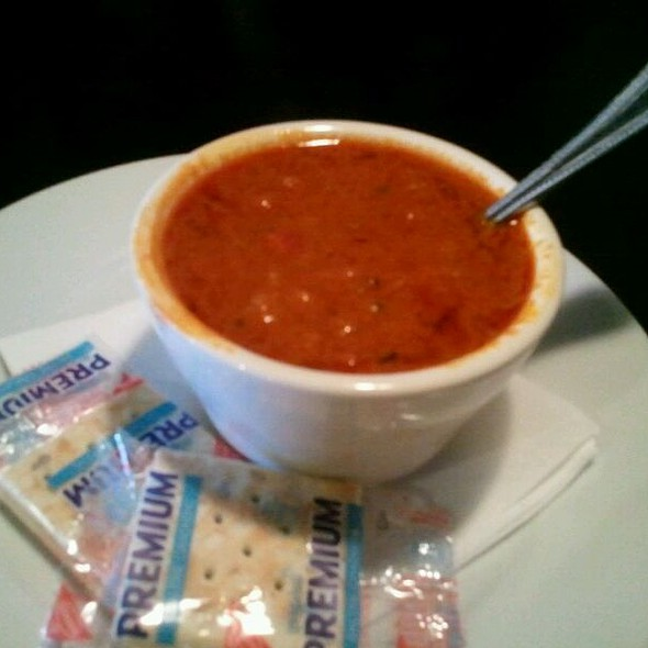 Roasted Red Pepper And Tomato Soup @ Portico Bar And Grill