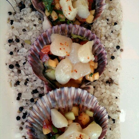 Sea Scallop Ceviche @ Left Bank Brasserie in Larkspur
