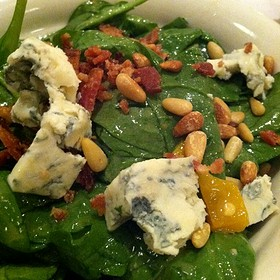Spinach Salad with Goat Cheese, Dried Cranberries and Candied Walnuts - Maggiano's - Cherry Hill