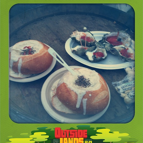 Clam Chowder In A Bread Bowl @ Outside Lands Festival