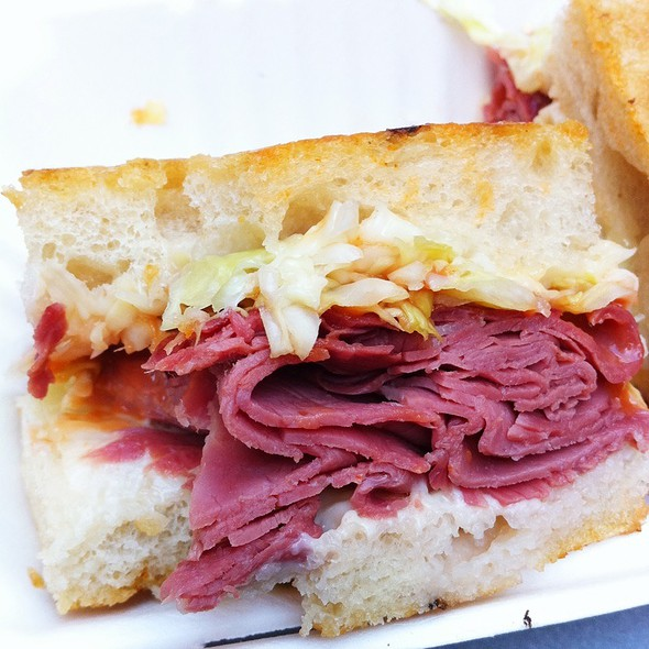 Corned Beef Sandwich with Gruyere @ The Sentinel