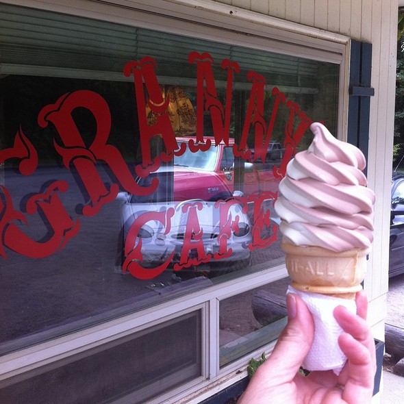 Soft Serve Chocolate And Vanilla Swirl Ice Cream Cone @ Granny's Cafe