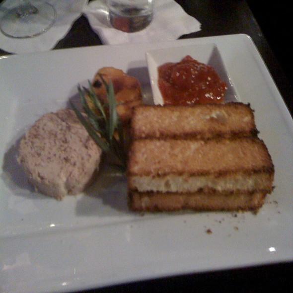 Foie Gras Torchon With Tomato Jam, Grilled Peaches, Tarragon & Brioché @ Interim Restaurant