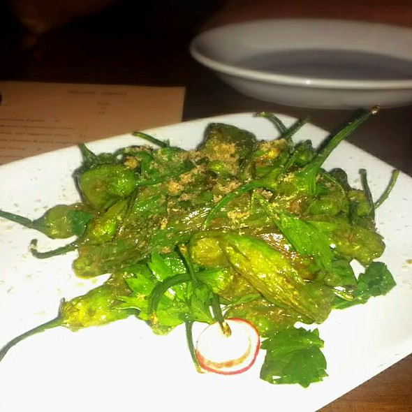 Blistered Shishito Peppers W/ Mojama