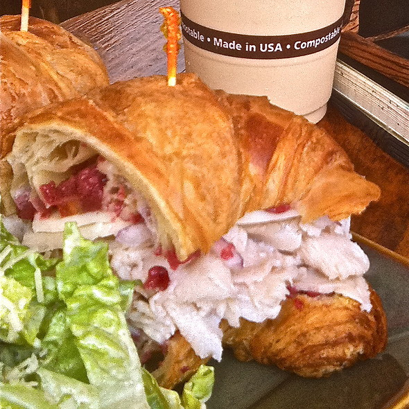 Turkey Croissant Sandwich @ Wailuku Coffee Company