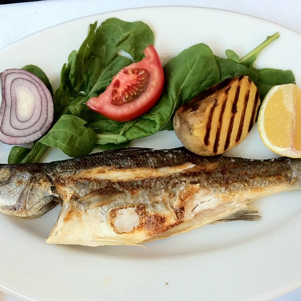 Grilled Seabass @ Sultanahmet Fish House