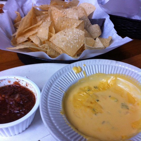 Queso, Chips And Salsa At Flips Patio Grill