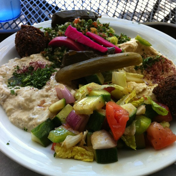 Combo Plate @ Mediterranean Wraps and Kan Zeman