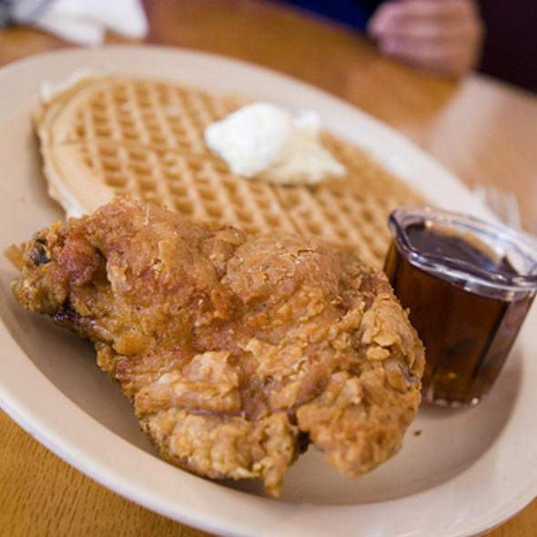 Fried Chicken and Waffles @ Roscoe's House of Chicken & Waffles