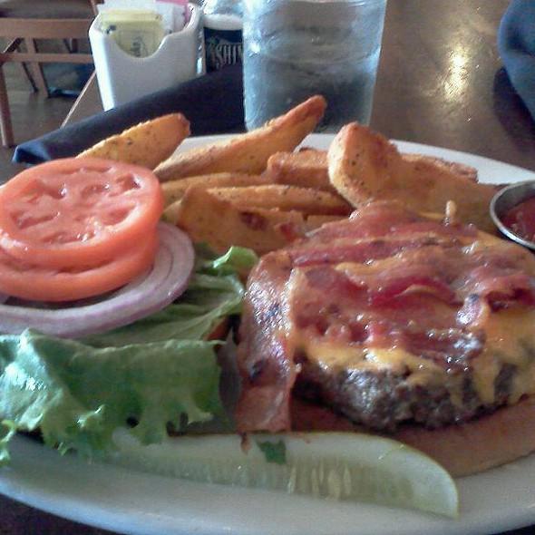 Cheeseburger w/ Bacon @ Moonshine Patio Bar & Grill