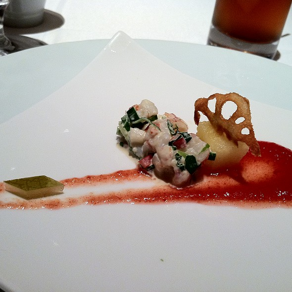 Lobster salad with watermelon puree - Tocqueville, New York, NY