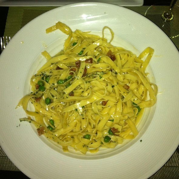 Fettuccine with Basil Pesto Cream Sauce @ Second Floor Bistro Bar