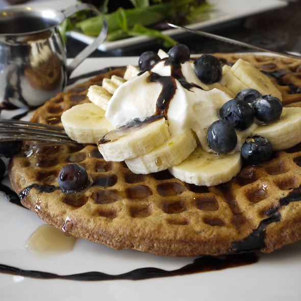 Blueberry Waffles @ Blue Fig