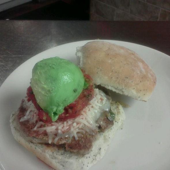 Oaxacan Turkey Burger @ Green Dog Cafe