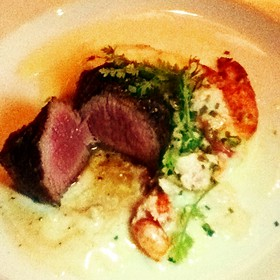 Seared Tenderloin With Butter Poached Lobster