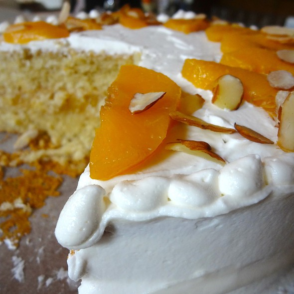 Almond-Peach Cake