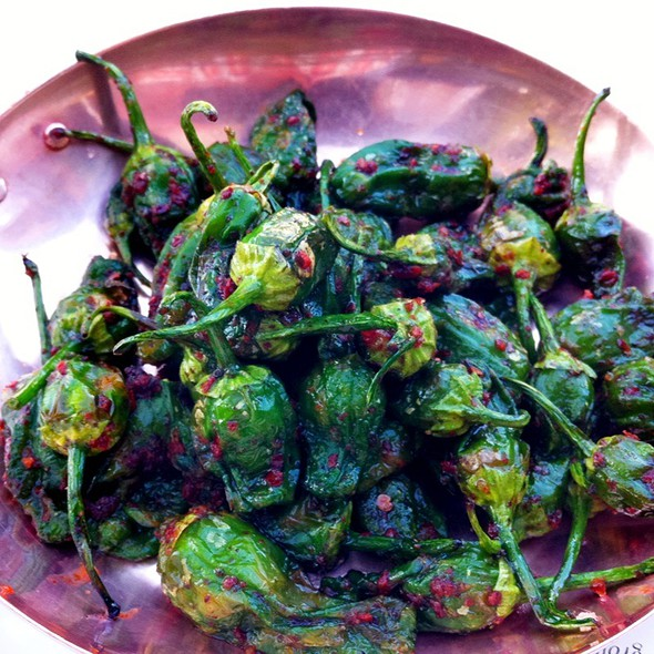Roasted Padron Peppers @ dio deka