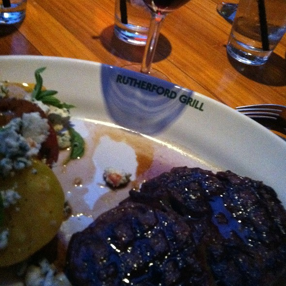 Ribeye And Frog's Leap Merlot @ Rutherford Grill