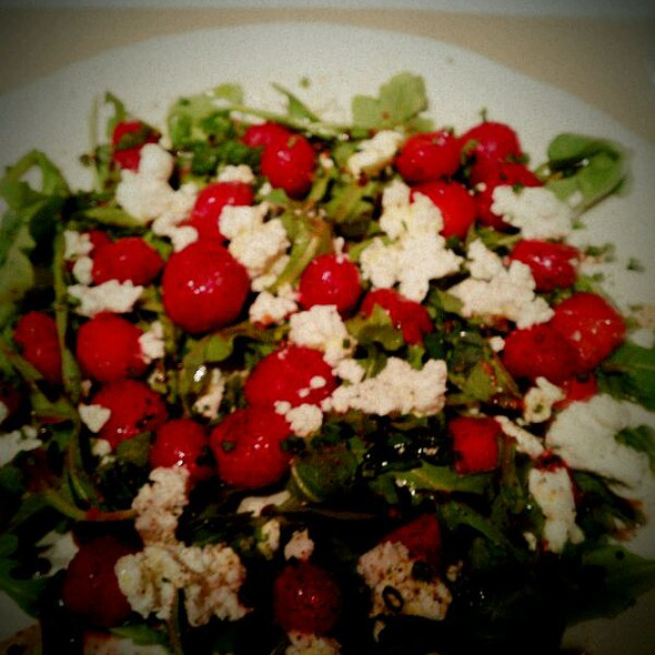 Strawberry, Goat Cheese, Lime, and Arugula Salad  @ ABC Kitchen