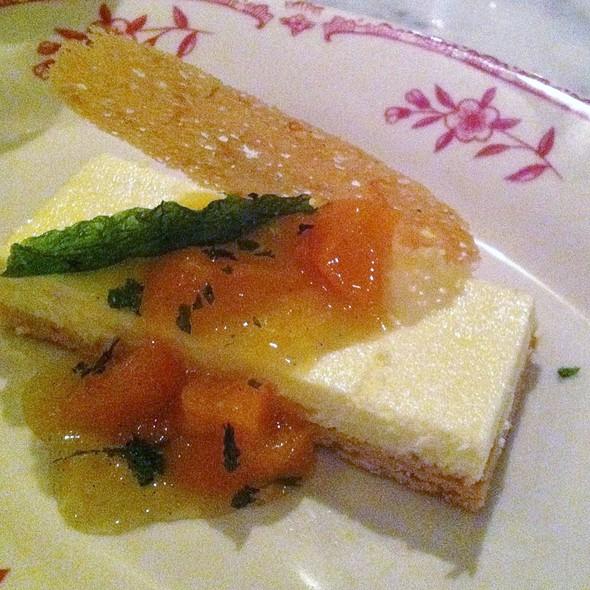 Creme Fraiche Tart with Apricot Compote @ Bar La Grassa