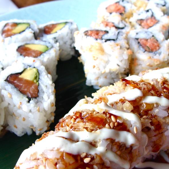 Salmon Avocado Roll, Spicy Tuna Roll, Godzilla Roll - Yuki Hana, Chicago, IL