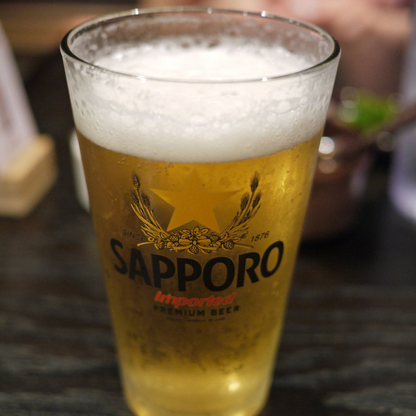 Sapporo Draft Beer @ Shalala Japanese Ramen