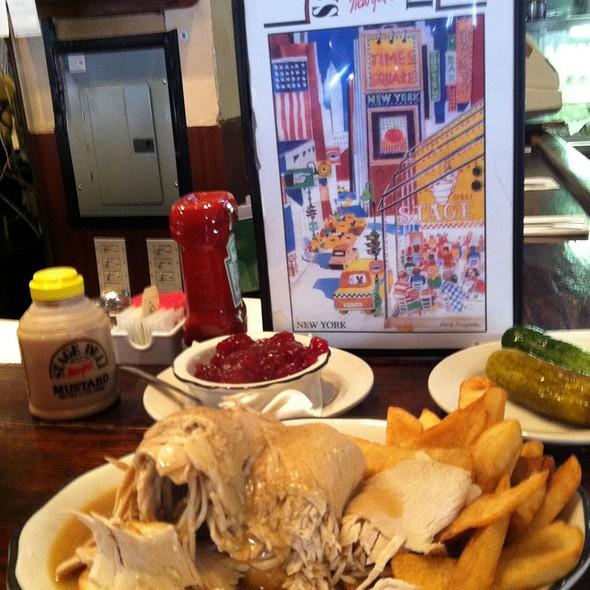 Open Face Hot Turkey Sandwhich @ Stage Deli & Restaurant Inc