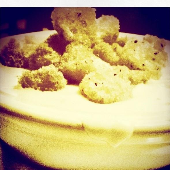 Potato Bleu Cheese Soup - Sebastian's Hideout, Springfield, IL