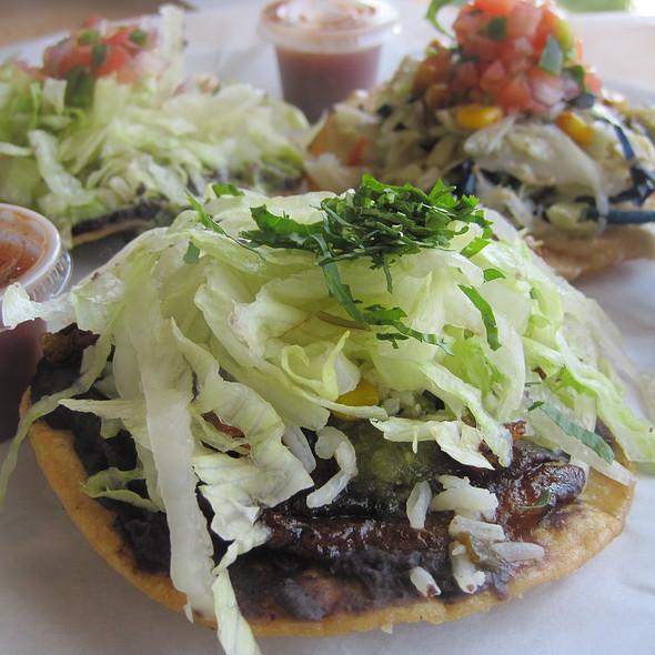 Vegan Tostada Sampler @ Taco Ocho
