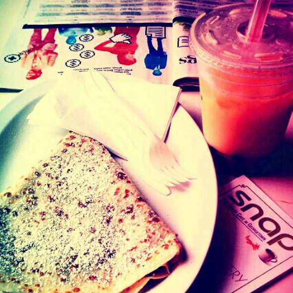 Nutella Crepe, Mango Coconut Bubble TeA @ Snap