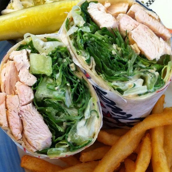 Grilled Chicken Ceasar Wrap @ Eveready Diner
