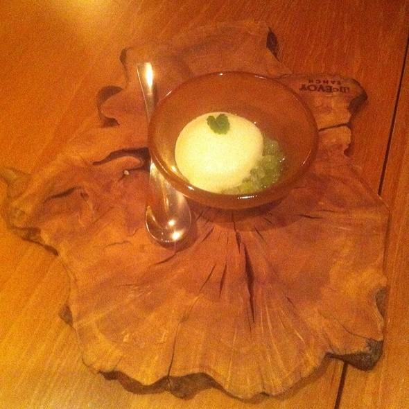Celery Granité W/ Apple Foam & Thai Basil @ Atelier Crenn