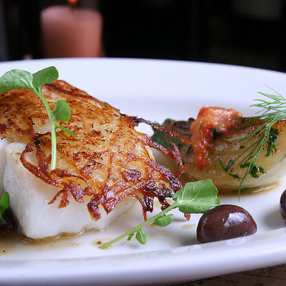 Potato Crusted Chatham Cod @ Anella