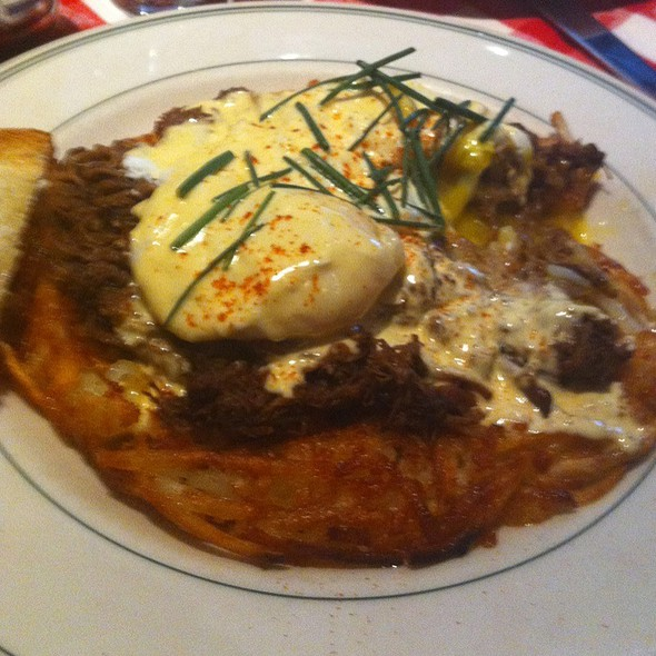 Kobe Beef Short Rib Benedict - Manny's Steakhouse, Minneapolis, MN