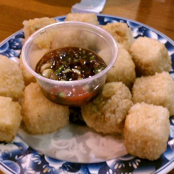 Deep fried tofu @ Teacup Cafe