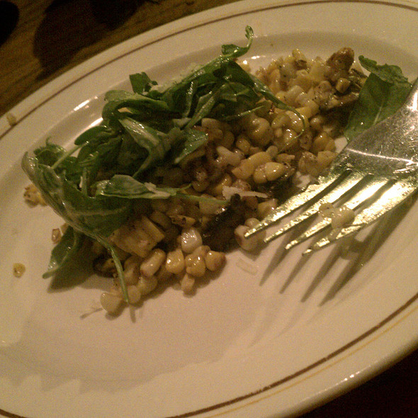 Roasted corn, walnut, aged goat cheese, arugula, and wild mushroom salad @ Davanti Enoteca