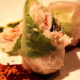 Crab Summer Roll - Fleming's Steakhouse - Winter Park