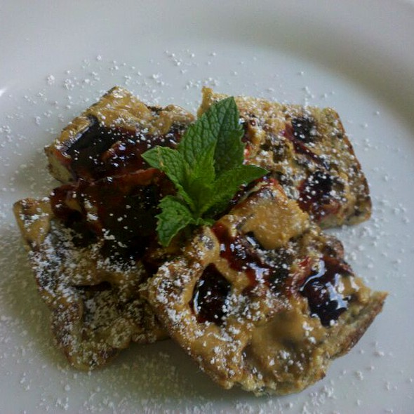 Peanut Butter & Mixed Berries Waffles @ Lucy's Kitchen