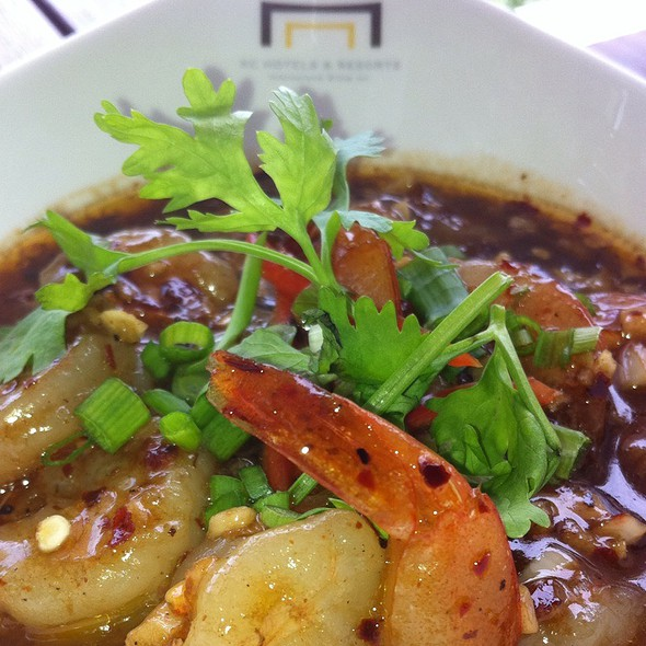 Dancing Shrimp Tapas @ The View Restaurant & Wine Lounge