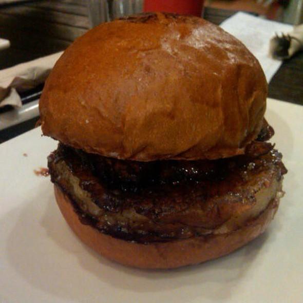 Bacon Wrapped Scallop Burger @ Umami Burger