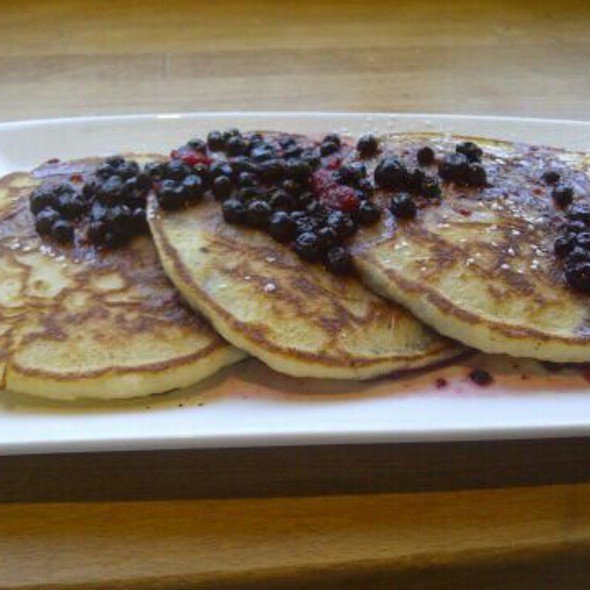 lemon ricotta pancakes with blueberry compote @ Bakeshop