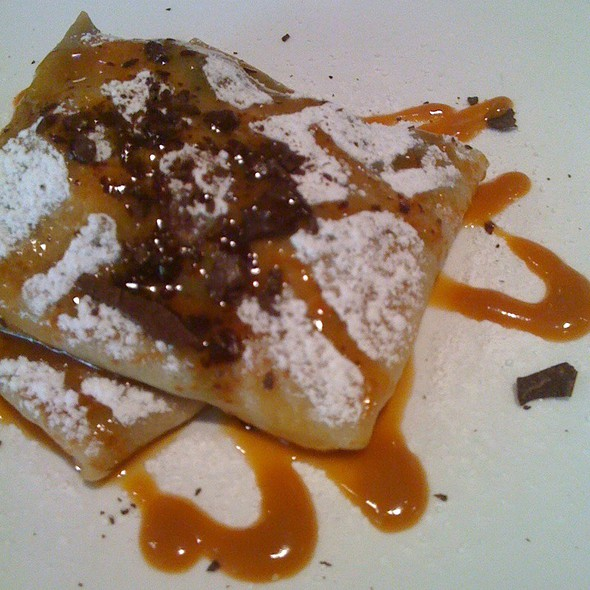 Dark Chocolate, Caramel, Banana Crepe @ Crepes On Columbus