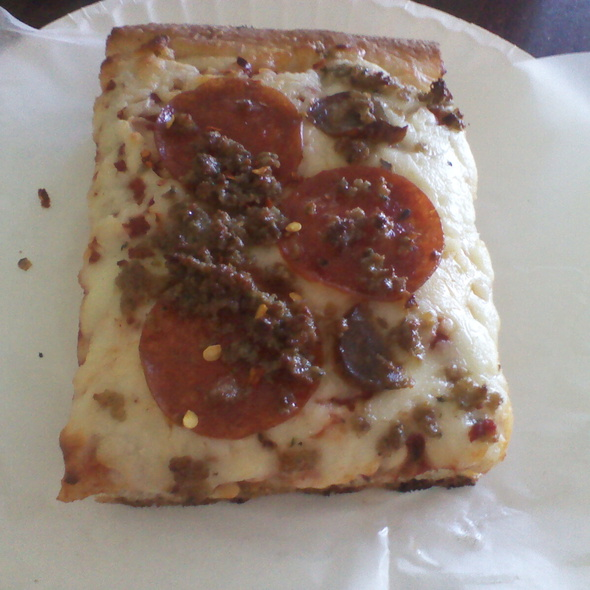 Meatda Sicilian Slice @ Sicilian Thing Pizza